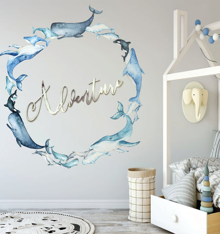 Whale Of A Time Reusable Couture Wall Decals