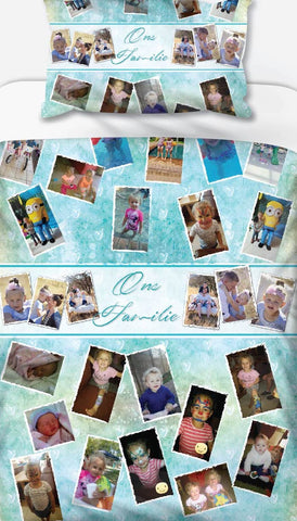 Ons Familie Collage Personalised Photo Duvet Set