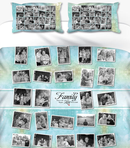 Family Collage Personalised Photo Duvet Set