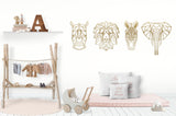 Geometric Bear Laser Cut Wood Wall Decor