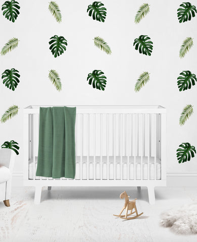 Tropical Rainforest Reusable Couture Wall Decals