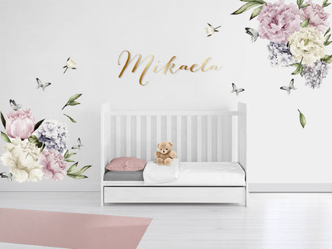 Peony Paradise Reusable Couture Wall Decals