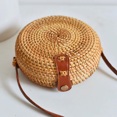 Bali Woven Crossover Shoulder Bag