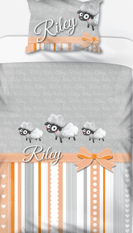 Sheep Personalised Name Duvet Set