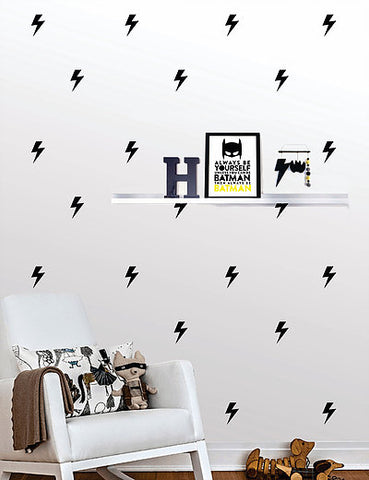 Thunder Bolt Wall Pattern Decals