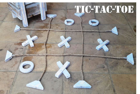 Tic-Tac-Toe Wooden Giant Lawn Game