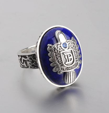 Vampire Diary S925 Sterling Silver Ring (Personalised Initial)