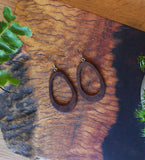 Double Oval Wood Earrings