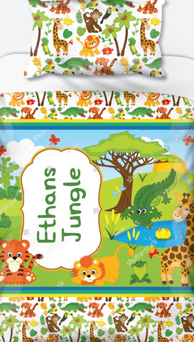 Wild Animals Personalised Name Duvet Set