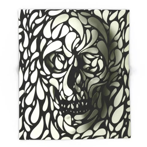Skull Coral Fleece Blanket