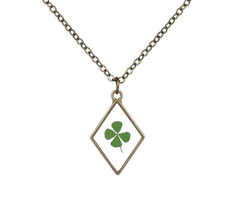 Clover Botanical Pendant Necklace
