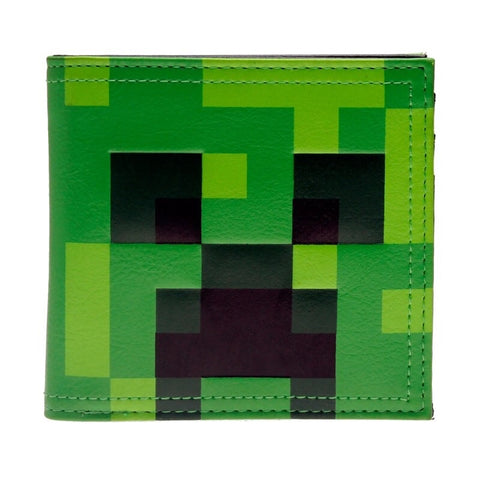 Minecraft Dirt Block Green Bi-Fold Wallet