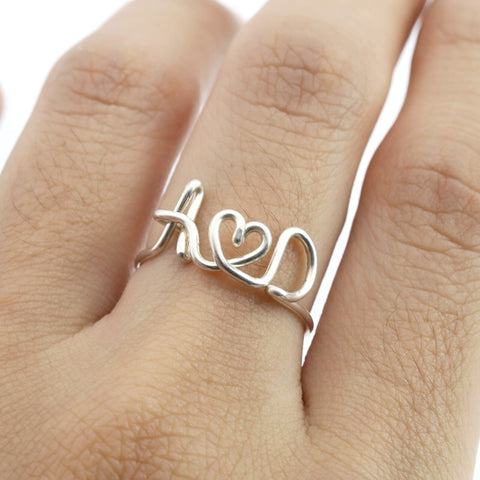 18k Gold Plated Personalised Ring