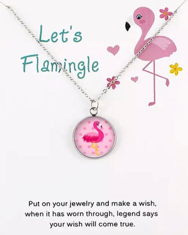 Glass Flamingo Necklace