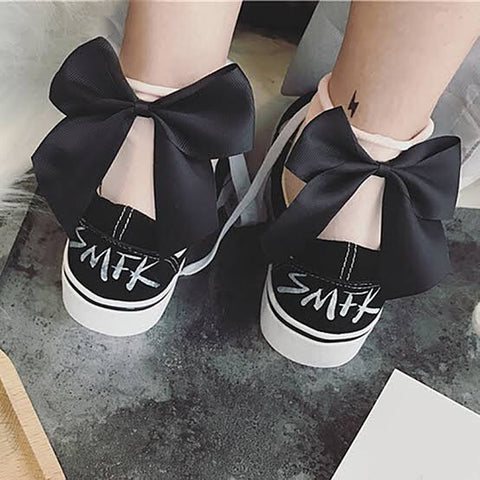 Ladies Bow Socks (20 colour choices)