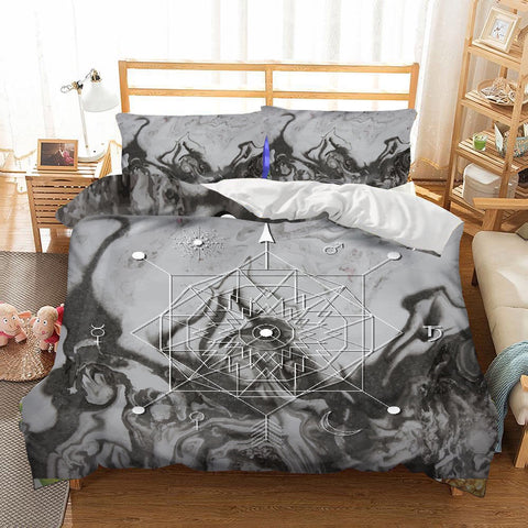 Marble Compass Duvet Set