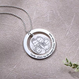 Sterling Silver Personalised Photo Engraved Necklace