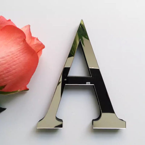 Acrylic Mirror Letter Decor (3 colour choices)
