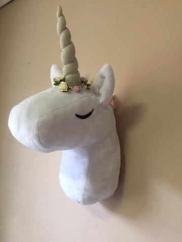 Plush Unicorn Wall Hanging