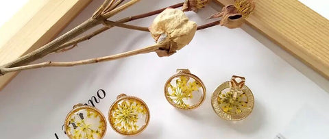 Botanical Flower Earrings
