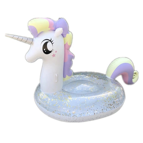 Glitter Unicorn Pool Float 120 x 90 x 90cm