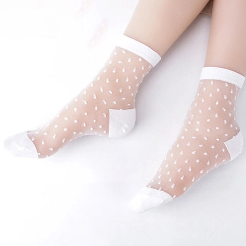 Ladies Transparent Silk Socks (11 colour choices)