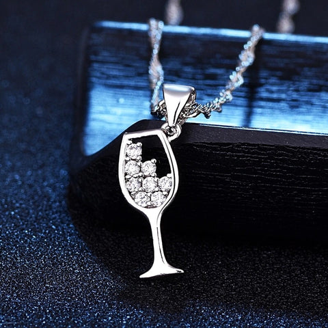 Wine Glass Pendant Necklace