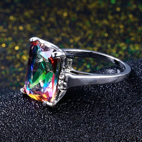 Rainbow Fire Mystic Topaz Sterling Silver Ring