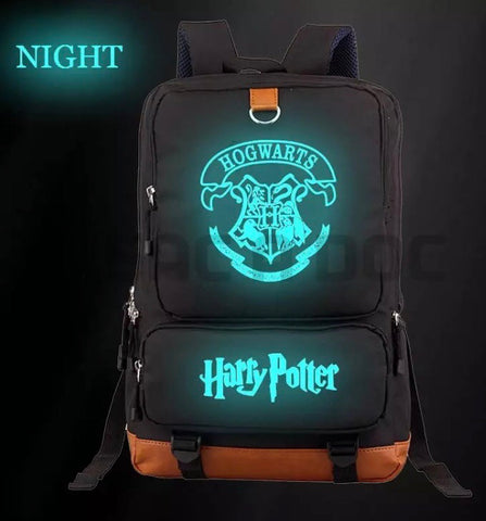 Harry Potter Hogwarts Glow In The Dark Print Canvas Bag