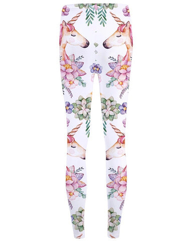 Floral Unicorn Leggings