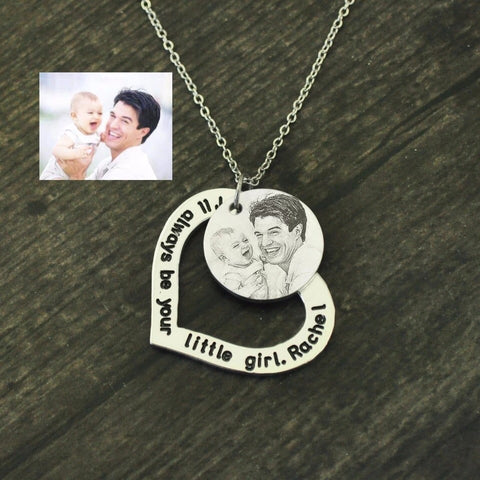 Personalised Photo Engraved Necklace