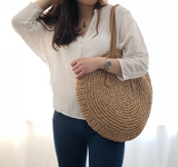 Woven Rattan Casual Tote Bag (2 colour choices)