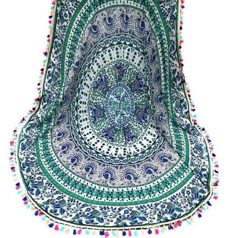 150cm Large Round Tassel Beach Towel
