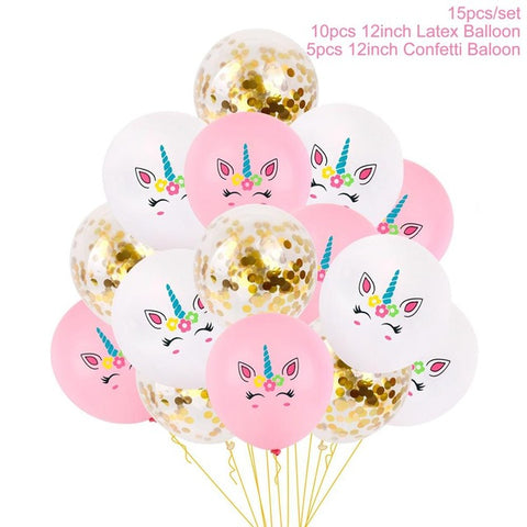 Unicorn Confetti Mix Party Balloons