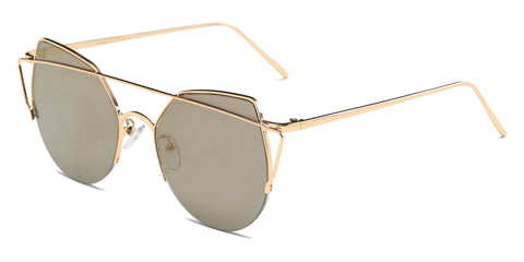 Women's Cat Eye Mirrored Sunglasses