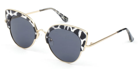 Women's Half-Frame Cat Eye Sunglasses
