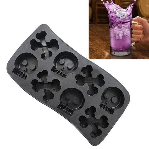 Skull & Bones Silicone Ice Mould