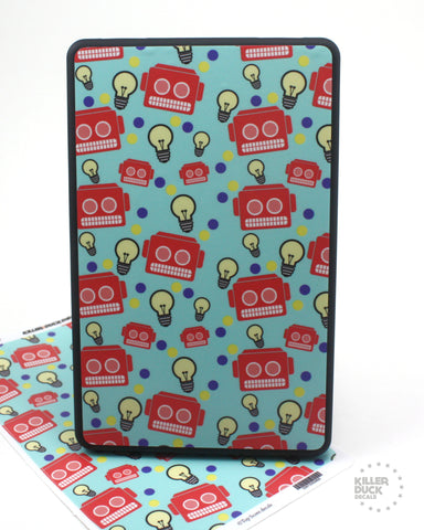 Blue Robot Kindle Fire skin