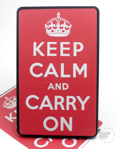 Keep Calm Carry On Kindle Fire skin