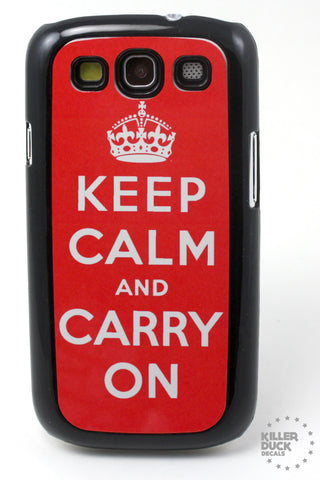 Keep Calm and Carry On Samsung Galaxy SIII Case