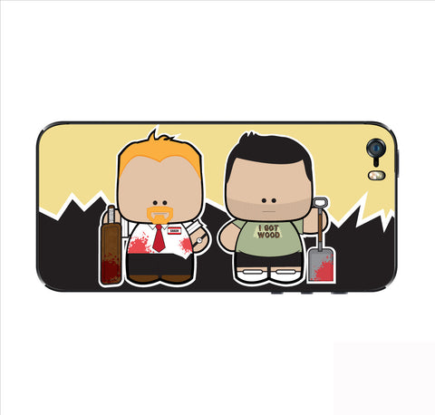 Shaun and Ed iPhone Skin