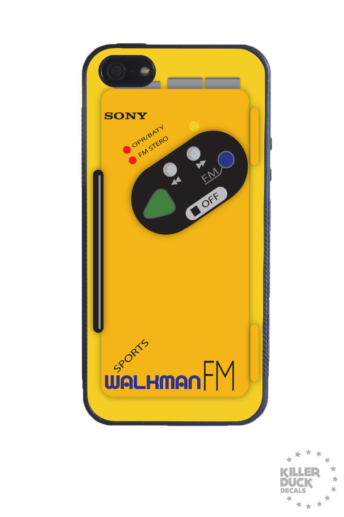 Sony walkman iphone case killer duck decals