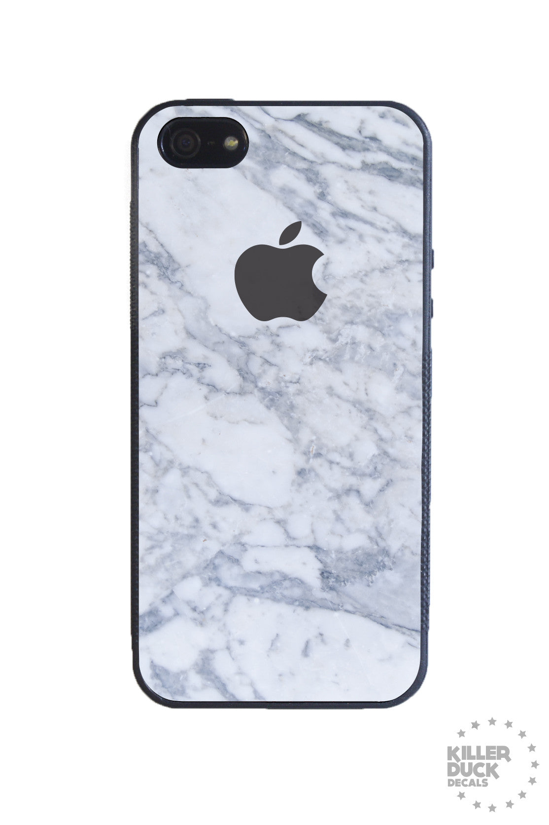 White marble iphone case killer duck decals