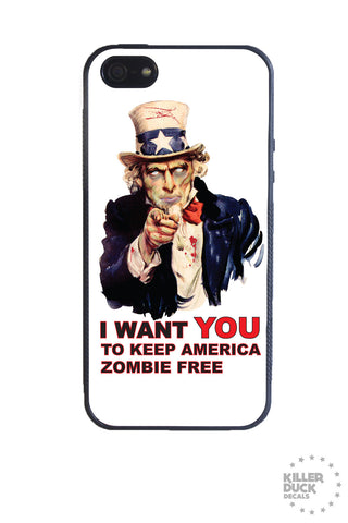 Zombie America iPhone Case