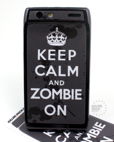 Keep Calm and Zombie On Razr Skin