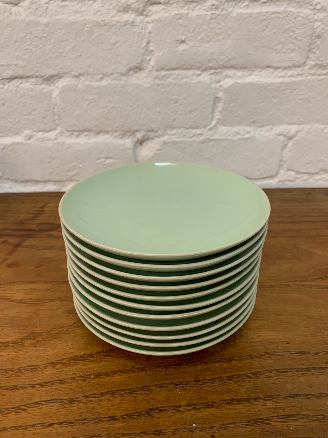 Mint Green Plates - Set of 11
