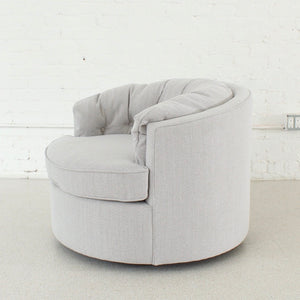 Rebecca Swivel Club Chair Grey