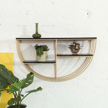 Load image into Gallery viewer, Half Moon Shelf in Black & Gold