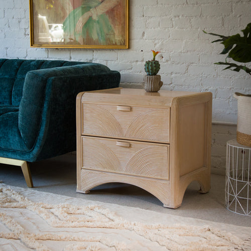1980's Two-Drawer Nightstand by American Drew
