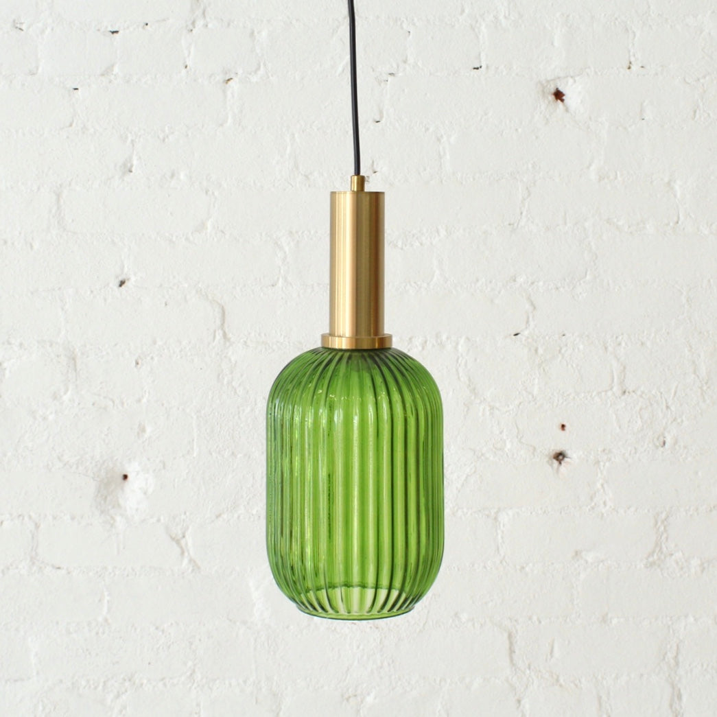 Serena Green Glass Dimmable Cigar Pendan